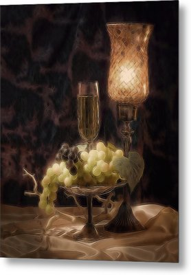 Fine Wine Still Life Metal Print