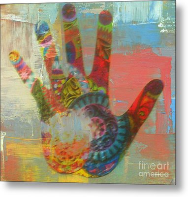 Finger Paint Metal Print by Kelly Awad