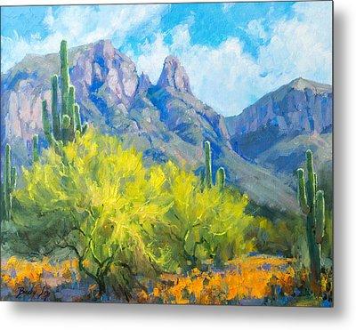 Finger Rock Tucson Az Metal Print by Becky Joy