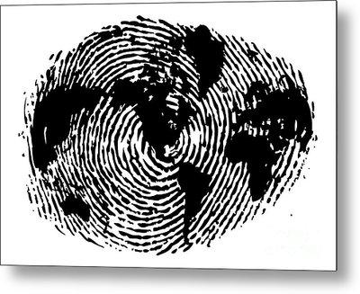 fingerprint 20X30 Metal Print by Sassan Filsoof