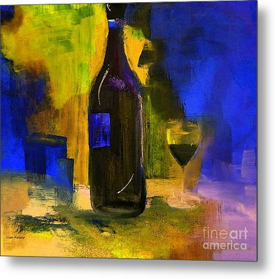 One Last Glass Before Bed Metal Print by Lisa Kaiser