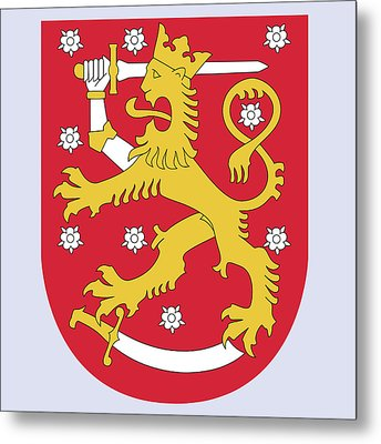 Finland Coat Of Arms Metal Print by Movie Poster Prints