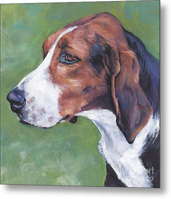 Metal Print featuring the painting Finnish Hound by Lee Ann Shepard