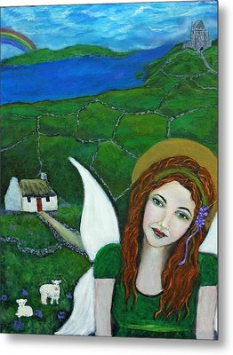Fiona An Irish Earthangel Metal Print by The Art With A Heart By Charlotte Phillips