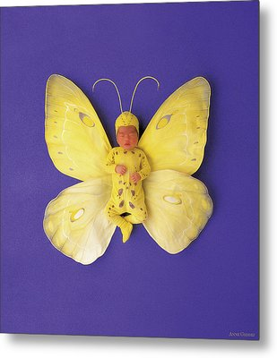 Fiona Butterfly Metal Print by Anne Geddes