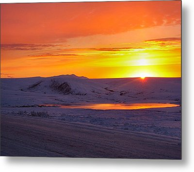 Fire And Ice Metal Print by Adam Owen