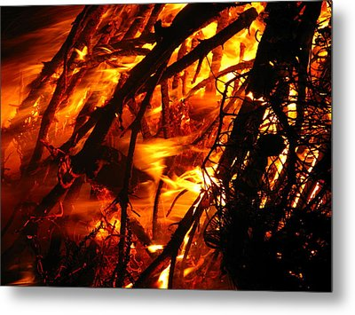 Fire And Ice Metal Print by Brittany H