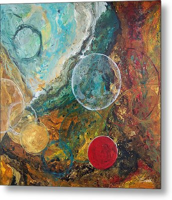 Fire And Ice Metal Print by Laura Swink