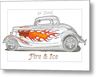 Fire And Ice Metal Print by Michael Gass