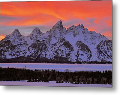 Fire And Ice Metal Print by Stephen  Vecchiotti