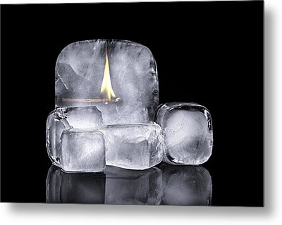 Fire And Ice Metal Print by Tom Mc Nemar