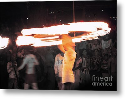 Fire And Ice Metal Print by Venura Herath