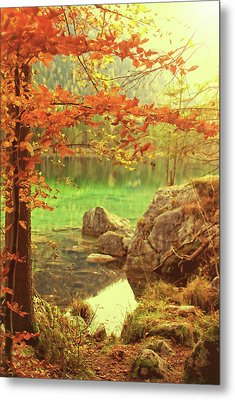 Fire And Water Metal Print by AugenWerk Susann Serfezi
