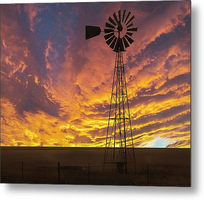 Fire At The Ranch Metal Print