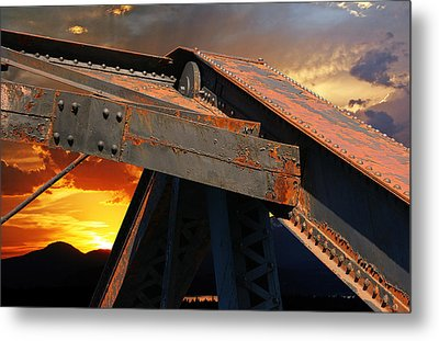 Fire Bridge Metal Print by Melvin Kearney