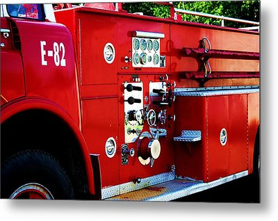Fire Engine Red Metal Print by Beverly Hammond