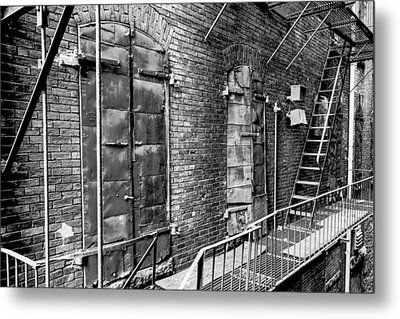 Fire Escape And Doors Metal Print