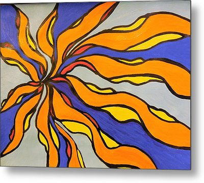 Fire, Ice, And Water Metal Print