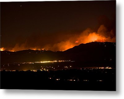 Fire In The Mountains No Lightning In The Air  Metal Print by James BO  Insogna