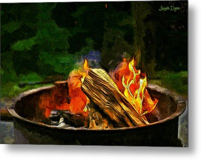 Fire In The Pot - Pa Metal Print