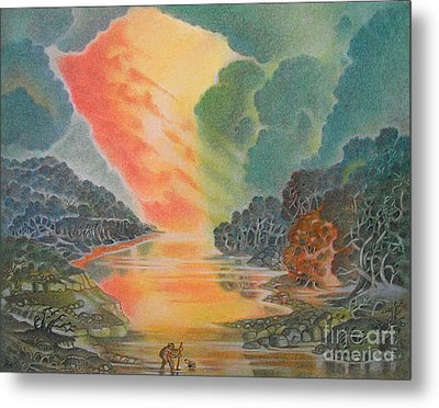 Fire In The Sky 2 Metal Print