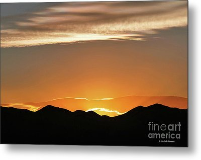 Fire In The Sky Metal Print by Michele Penner