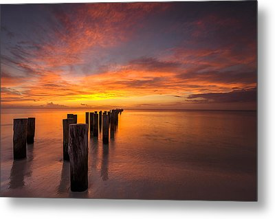 Fire In The Sky Metal Print by Mike Lang