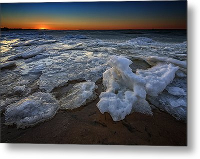 Fire Island Icy Shores Metal Print by Rick Berk