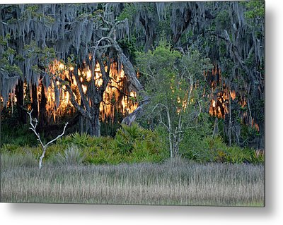 Metal Print featuring the photograph Fire Light Jekyll Island by Bruce Gourley