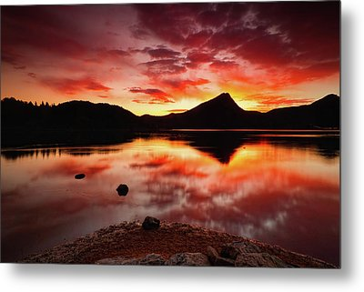 Metal Print featuring the photograph Fire Of Fall by John De Bord