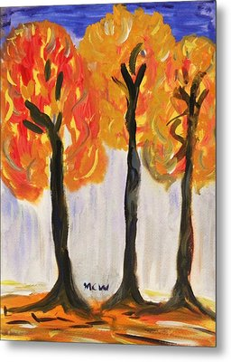 Fire Of The Wood Metal Print by Mary Carol Williams