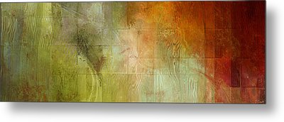 Fire On The Mountain - Abstract Art Metal Print