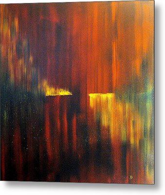 Fire On Water Metal Print by David Hatton