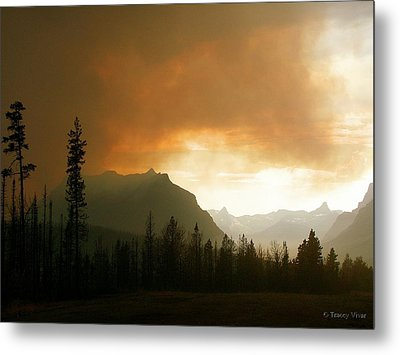 Fire Over St Mary Metal Print