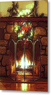 Fire Place Metal Print by Kenneth Lambert