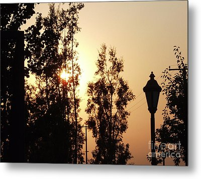 Fire Say Sunset Metal Print by Jamey Balester