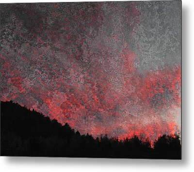 Fire Sunset Metal Print by Dorothy Berry-Lound