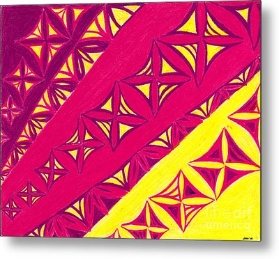 Metal Print featuring the drawing Fire Velvet Lace by Kim Sy Ok