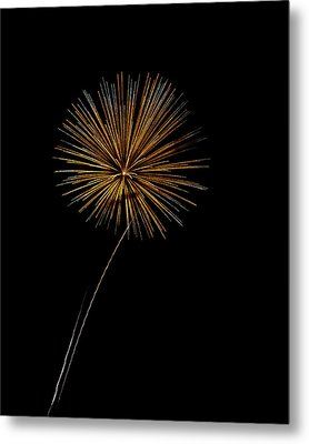 Fire Works Bursts Metal Print by Gary Langley