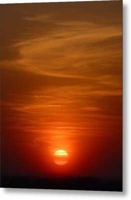 Fireball At Sunset Metal Print