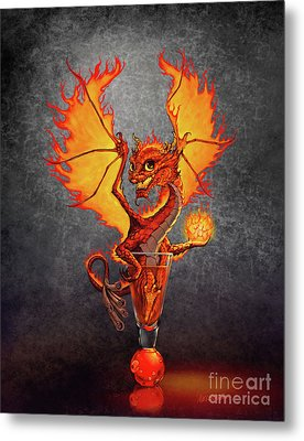 Fireball Dragon Metal Print