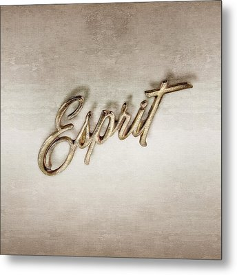 Firebird Esprit Chrome Emblem Metal Print
