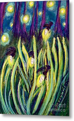 Fireflies Metal Print by D Renee Wilson
