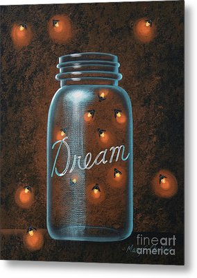 Firefly Dream Metal Print by Mary Charles