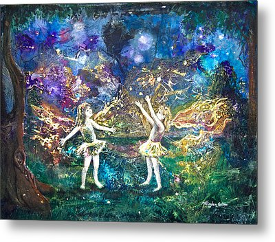 Firefly Frolic Metal Print by Patricia Allingham Carlson