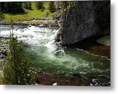 Firehole Canyon 1 Metal Print by Marty Koch