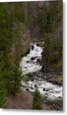 Metal Print featuring the photograph Firehole Canyon by Steve Stuller