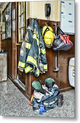 Fireman - Always Ready Metal Print by Paul Ward