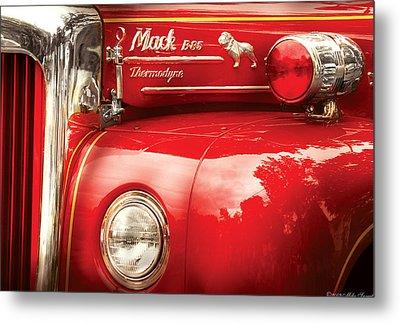 Fireman - An Old Fire Truck Metal Print