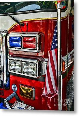 Fireman - Fire Truck Metal Print by Paul Ward